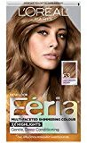L'Oreal Feria Multi-Faceted Shimmering Color, 63 Sparkling Amber (Light Golden Brown)