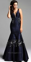 Mac Duggal Hollywood Glamour Trumpet Evening Gown