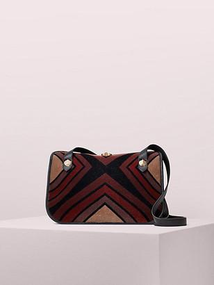 Kate Spade Farrah Flocked Velvet Large Shoulder Bag