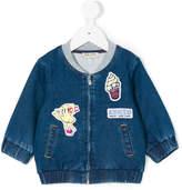 Kenzo patch denim bomber jacket
