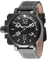 Haurex Italy Men's 6N508UWN Gun Analog Display Quartz Black Watch