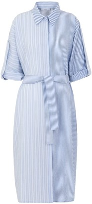 A Line Clothing Striped Long Shirt Dress