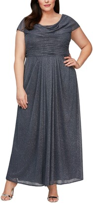 Alex Evenings Cowl Neck A-Line Gown