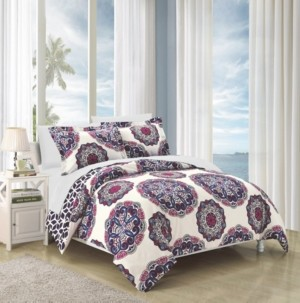 Chic Home Ibiza 7 Piece Full/Queen Bed In a Bag Duvet Set Bedding