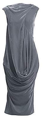 Rick Owens Women's Ellipse Velvet Midi Dress