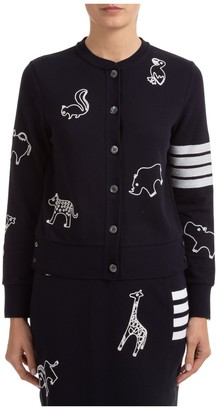Thom Browne Animal Icon Embroidered Cardigan