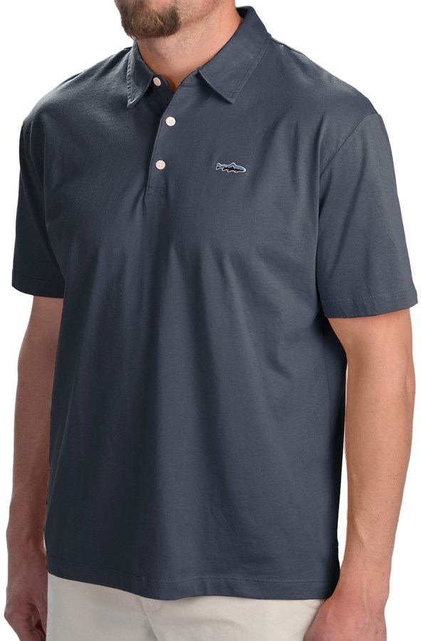 Patagonia Fitz Roy Trout Polo Shirt - Organic Cotton, Short Sleeve (For Men)