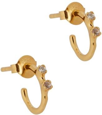 Otiumberg Bamboo 14kt gold vermeil hoop earrings
