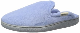 Dearfoams Women's Terry Scuff with Quilted Sock Slipper