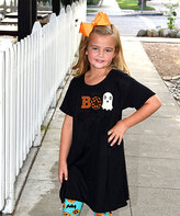 Beary Basics Black & Orange 'Boo' Tunic Dress - Toddler & Girls