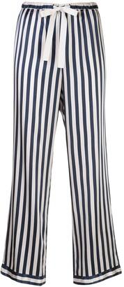 Morgan Lane Chantal striped pajama trousers