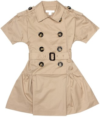 BURBERRY KIDS Stretch cotton trench coat dress