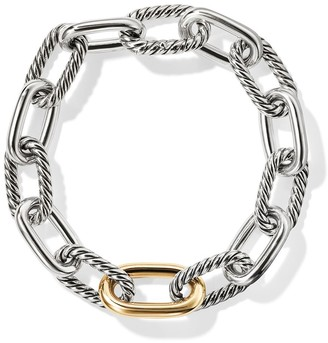 David Yurman sterling silver and 18kt bonded yellow gold detail DY Madison medium bracelet