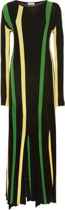 Loewe Striped Ribbed Cotton-Jersey Maxi Dress