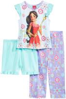 Disney Disney's Princess Elena of Avalor 3-Pc. Pajama Set, Toddler Girls