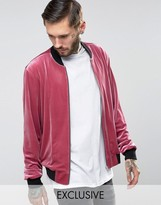 Reclaimed Vintage Velvet Bomber Jacket
