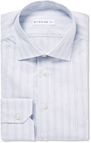 Etro - Slim-fit Striped Cotton And Linen-blend Shirt