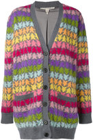 Marc Jacobs striped stars cardigan - women - Silk/Mohair/Nylon/Wool - S