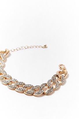 Forever 21 Rhinestone Curb Chain Bracelet