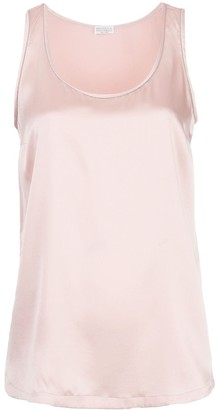 Brunello Cucinelli Monili Embellished Tank Top
