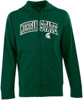 Antigua Men's Michigan State Spartans Signature Zip Front Fleece Hoodie