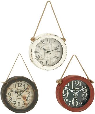 Uma Enterprises Set Of Three Metal Wall Clocks