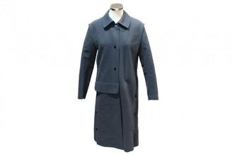 Hermes Blue Cotton Trench Coat for Women