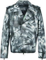 Haculla - hand painted distressed jacket - men - Cotton/Calf Leather - XL