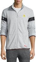 Puma Stand-Collar Sweater Jacket, Light Gray Heather