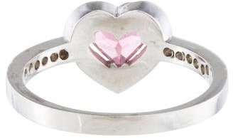 Jude Frances 18K Tourmaline & Diamond Halo Ring