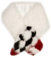 Fendi Blooming Garland fox-fur scarf