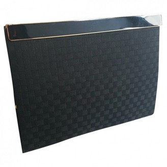 Christian Dior Black Silk Clutch bags