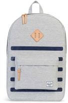 Herschel Offset Heritage Stripe Leather Logo Backpack