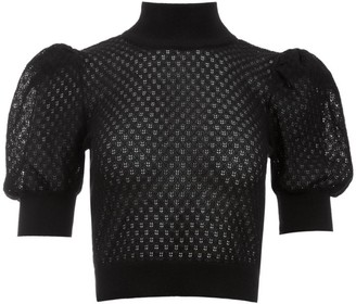 Alice + Olivia Shonda Puff Sleeve Sweater