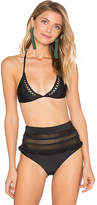 Tularosa Dylan Bikini Top in Black. - size L (also in M,S,XS)
