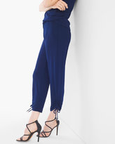 Chico's No Tummy Ruched Crop Pants