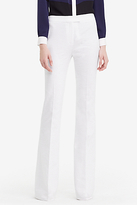 Diane von Furstenberg Nicola Textured Cotton Wide Leg Trousers