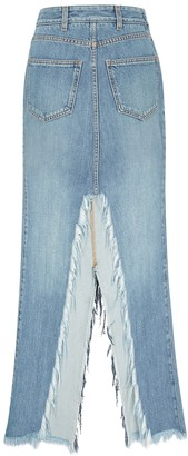 Givenchy Blue denim maxi skirt