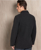 Guess Coat, Wool-Blend Plush Pea Coat