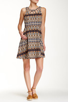 Miss Me Sleeveless Print Dress