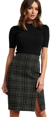 Forever New Amber Boucle Pencil Skirt