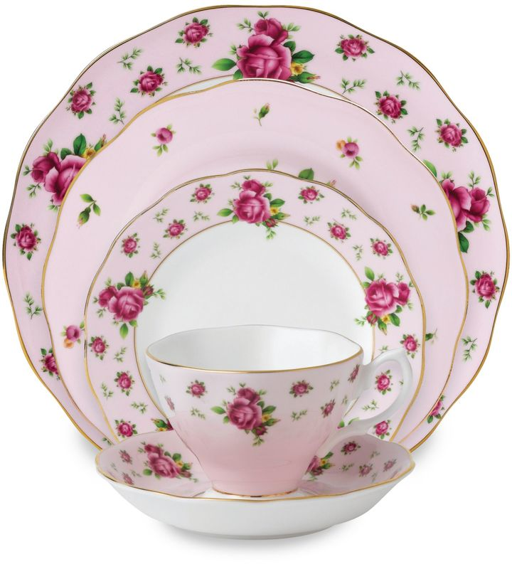Royal Albert New Country Roses Pink Formal Vintage Dinnerware