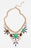 Guinevere Crystal Statement Necklace