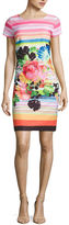 Robbie Bee Short Sleeve Sheath Dress-Petites