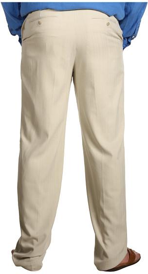 Tommy Bahama Big & Tall Flying Fishbone Flat Front Pant