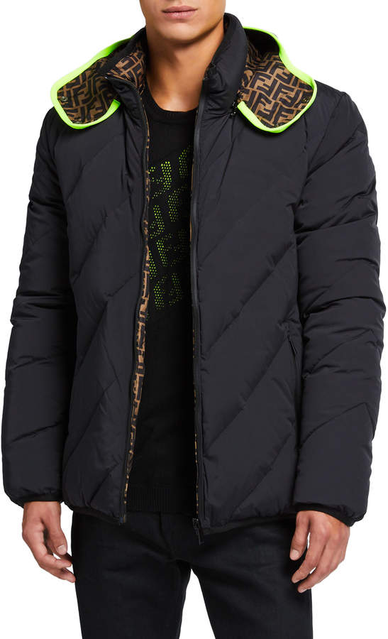 acec46f0 Men's Reversible Quilted Puffer Jacket
