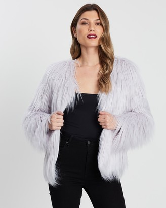 Unreal Fur Women's Grey Jackets - Unreal Dream Jacket - Size One Size, XS at The Iconic