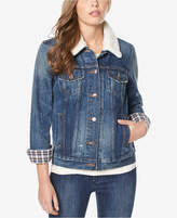 Buffalo David Bitton Nova Faux-Fur-Trim Denim Jacket