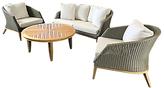 Westminster Grace 4 Seater Garden Lounge Set, FSC-Certified (Teak)
