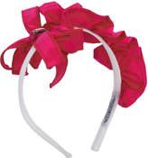 Simonetta ruffle detail asymmetric headband